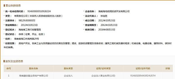 海航卖掉原总部所在地 孙宏斌再次接手海航海南资产